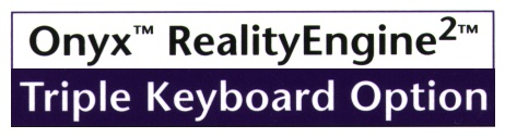 Onyx RealityEngine2 Triple Keyboard Option